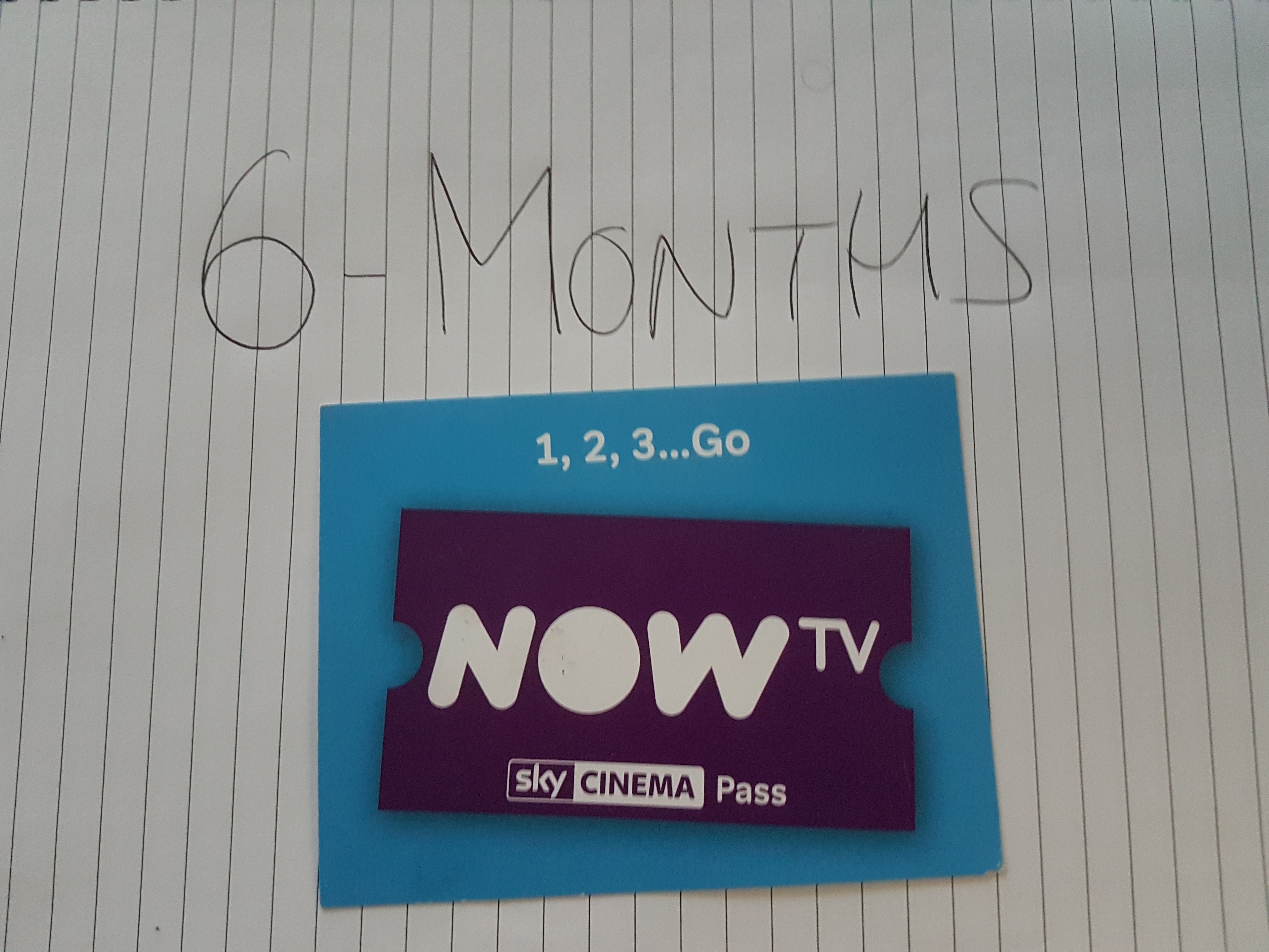 Now TV Sky Cinema 6 month Pass (not promotion)