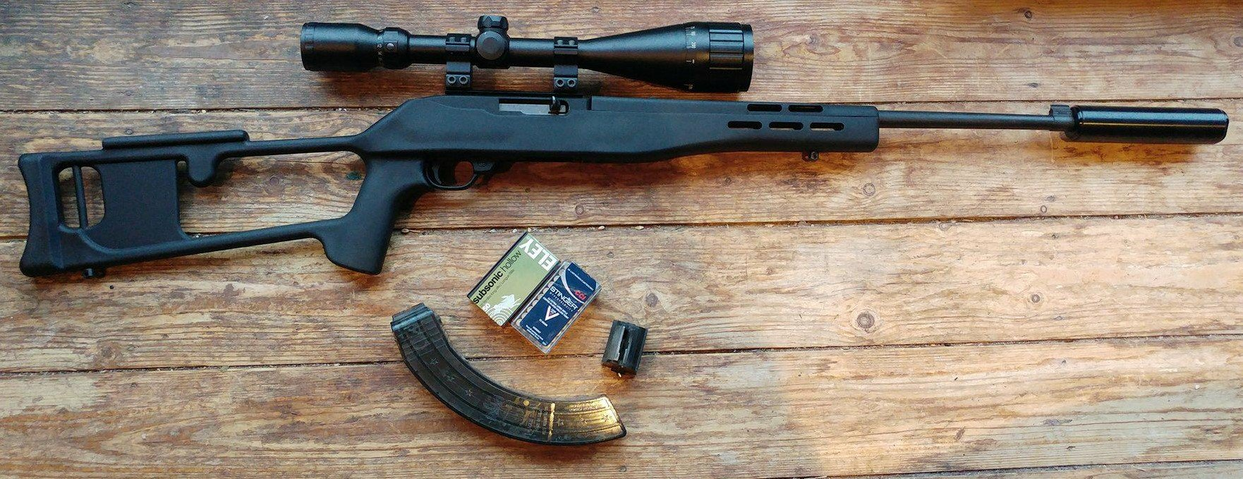 Ruger .22 LR 10/22 Synthetic Blued (Custom Stock) - reduced to £180