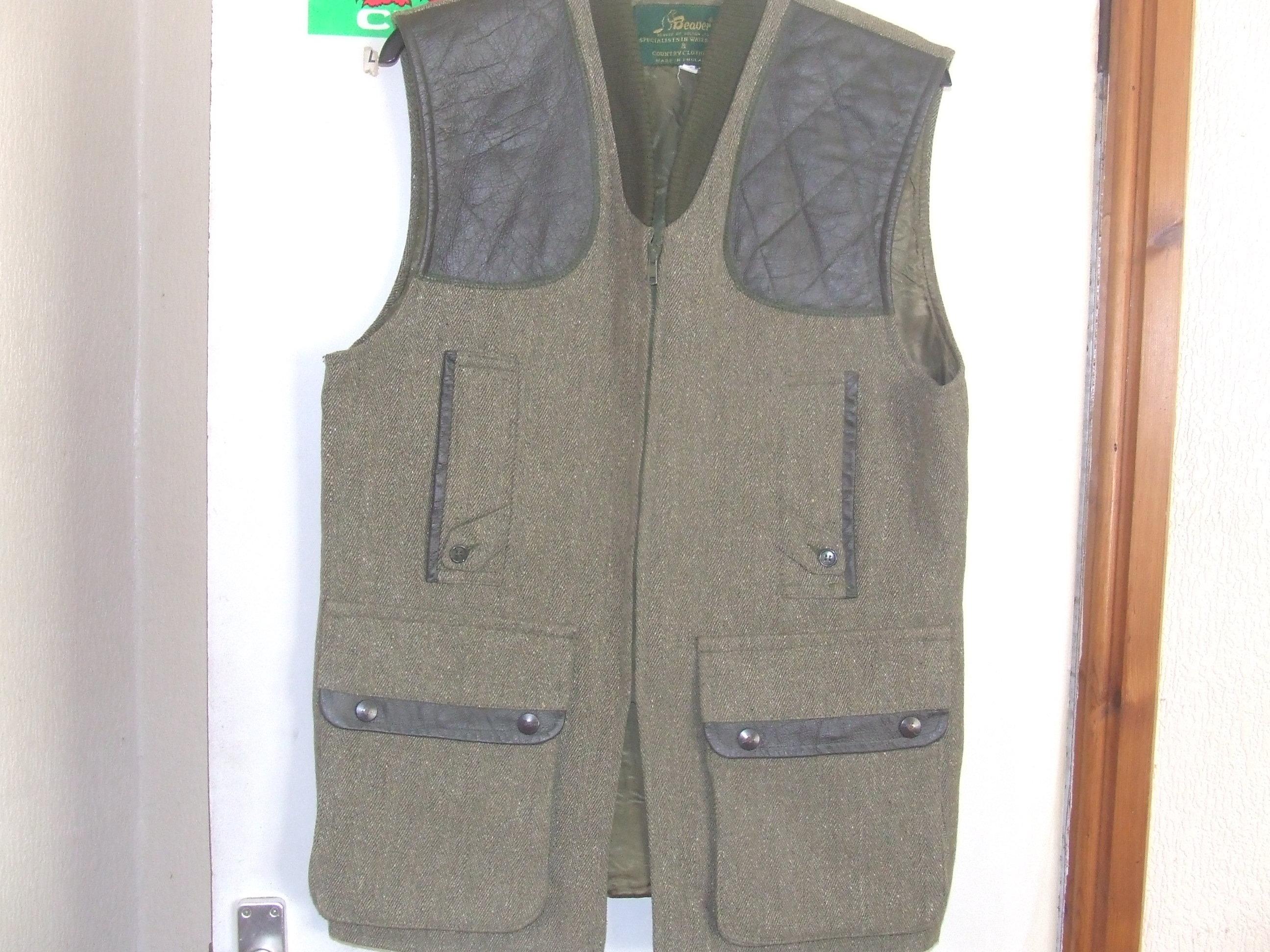 "Beaver of Bolton tweed waistcoat,size 44"""