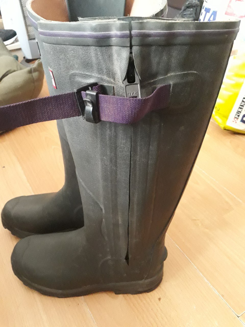 Hunter Balmoral Lady Leather Lined Boots,size 5