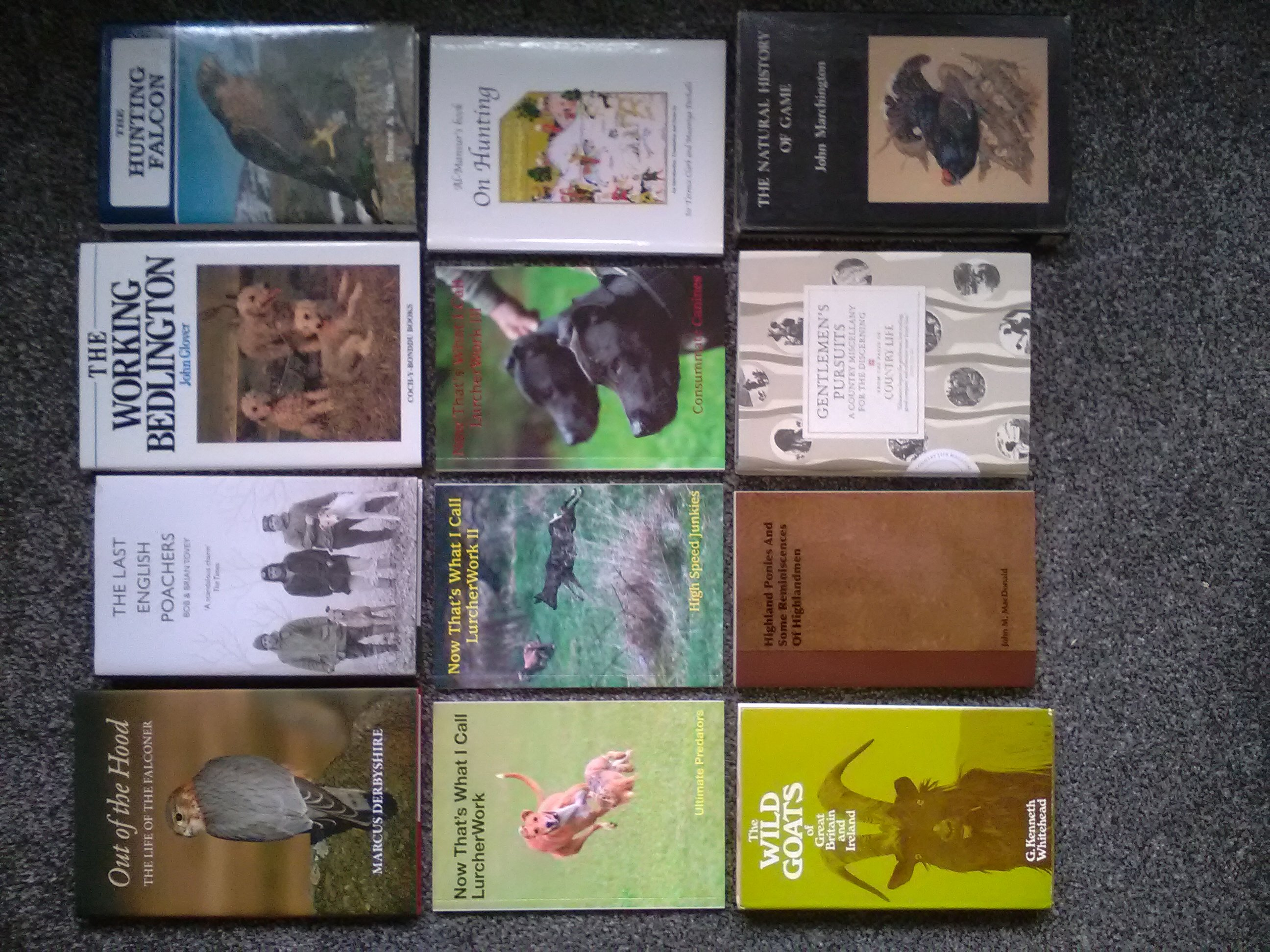 Lurcher/Falconry/Hunting/Countryside Books